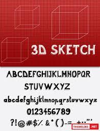 3d sketch font befonts com