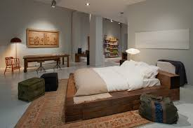 Contemporary Bedroom Bench - reclaimed wood platform bed bedroom contemporary with beam