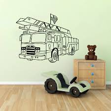popular fire engine wall stickers buy cheap fire engine wall fire engine wall stickers