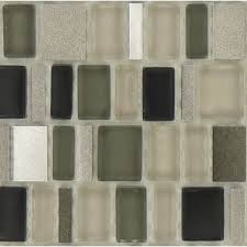 unique shapes beige glass and metal unique shapes tile