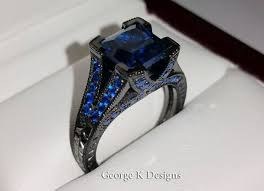 black gold sapphire engagement rings engagement rings masters jewelry engagement and wedding