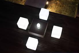 Cube Lights Illuminated Stool Skyline Design