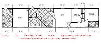 4 Bedroom Single Wide Floor Plans Aa Manufactured Homes