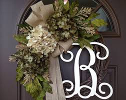 monogram wreath monogram wreaths etsy