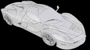ferrari front drawing artstation la ferrari automotive study deepak seeni