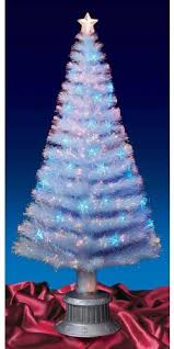 6ft 180cm white fibre optic tree blue led co uk