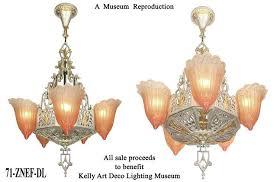 Art Nouveau Chandelier Vintage Reproduction Fleur De Lis Art Deco Lighting Art Nouveau