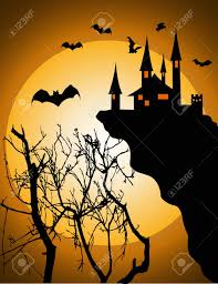 background of halloween vector illustration of halloween invitation or background royalty