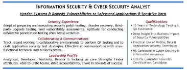 Qa Resume Objective Cyber Security Resume Objective Statement Sample Customer