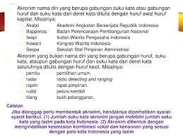penulisan daftar pustaka nama tiga suku kata pedoman e j a a n dalam bahasa indonesia ppt download