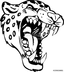 tribal jaguar for design stock photo and royalty
