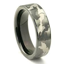 his and camo wedding rings black tungsten carbide 7mm camouflage wedding ring