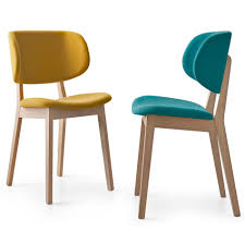 Mustard Dining Chairs by Calligaris Claire Dining Chair Modern Chairs Farbic