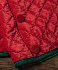buttoned up quilted velvet christmas tree skirt tree classics