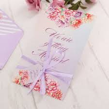 Wedding Invitation Cards China Online Buy Wholesale Wedding Invitation Cards With Purple Ribbon