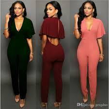 s one jumpsuit 2018 casual one jumpsuits sleeve
