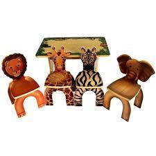 kids animal table and chairs safari kids table 4 animal chairs childrens table chairs kids