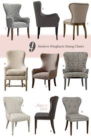 furniture cool wingback dining chair for elegant dining room
