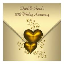 Greetings For 50th Wedding Anniversary 50th Wedding Anniversary Cards U0026 Invitations Zazzle Co Uk