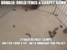 Make A Custom Meme - immigration plan build fence carpet bomb meme generator imgflip