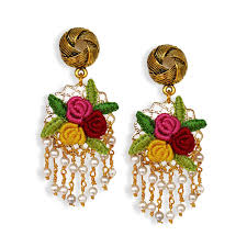 Multicolor Roses Multicolor Roses Buy Handmade Silk Thread Jewellery Online