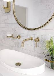Marble Bathrooms Ideas Gorgeous Carrara Marble Bathroom With Gold Taps And Accessories