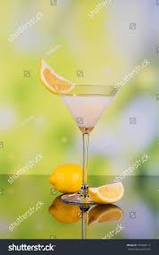 martini limoncello glasses cream liqueur lime lemon on stock photo 745828117