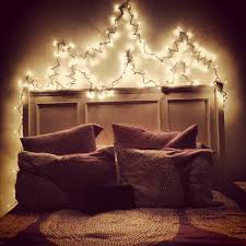 christmas lights over your bed i have this and i love it so much