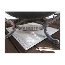 Fire Pit Mat For Wood Deck by Amazon Com Deck Defender U0026 Grass Guard Fire Pit Heat Shield