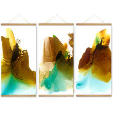 abstract watercolor mountain landscape decoration wall