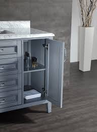 Bathroom Vanity Grey by Ove Decors Daniel 48 Gray Bathroom Vanity In Gray With Carrera