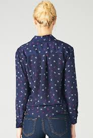 navy blouse blouse the seafarer anchor print sleeve blouse in navy