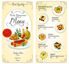 element cuisine discount cuisine restaurant lunch menu card template vector icons