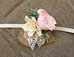 Shabby Chic Wedding Accessories by Romantic Wedding Corsage Mother Of The Bride Natural Wedding