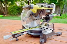 Cutting Laminate Flooring With Miter Saw Ryobi One Brushless 36v Dual Bevel Sliding Miter Saw
