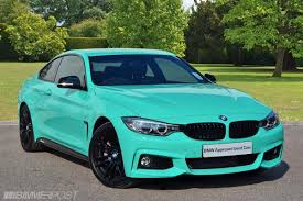 tiffany blue mustang very individual 435i in mint green