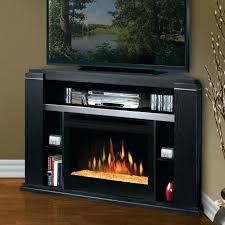 black wall corner a electric fireplace design