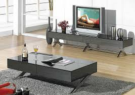 Living Room Tv Table Modern Glossy Gray Tv Stand Cr059 Tv Stands