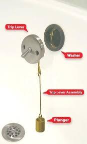 bathtub stopper leaks bathtub drain stopper trip lever bath replacement push repair