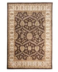 Area Rugs Brown Brown Tufted Traditional Wool Area Rug Carpet 8 X 10