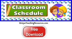 Click Here To Download This by Free Classroom Schedule Bulletin Board Display Banner Free 5 Page