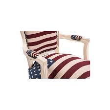 poltrone americane barocco luigi laccata tessuto bandiera americana usa