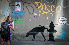 Nyc Spray Paint Art Who Is Banksy Huffpost