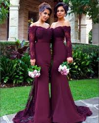 long sleeve lace prom dress purple mermaid prom dresses long