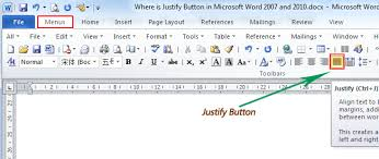 Where Can I Find A Resume Template On Microsoft Word Where Is The Justify Button In Microsoft Word 2007 2010 2013 And