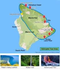 Hawaii Lava Flow Map Helicopter Tour Big Island Volcano Deluxe 1 Hour 45 Minutes