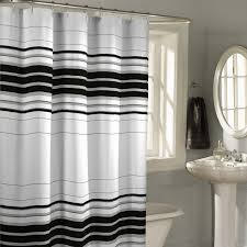 Black And White Bathroom Decorating Ideas by Decorating Beautiful Black And White Horizontal Striped Curtains