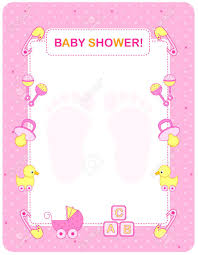 baby shower frames illustration of a baby shower invitation card border frame