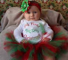 my christmas baby girl my christmas personalized baby infant girl tutu my