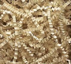 8oz antique ivory gift basket shred crinkle paper filler